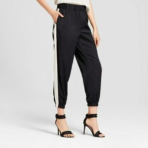 WHO WHAT WEAR side stripe jogger track pants